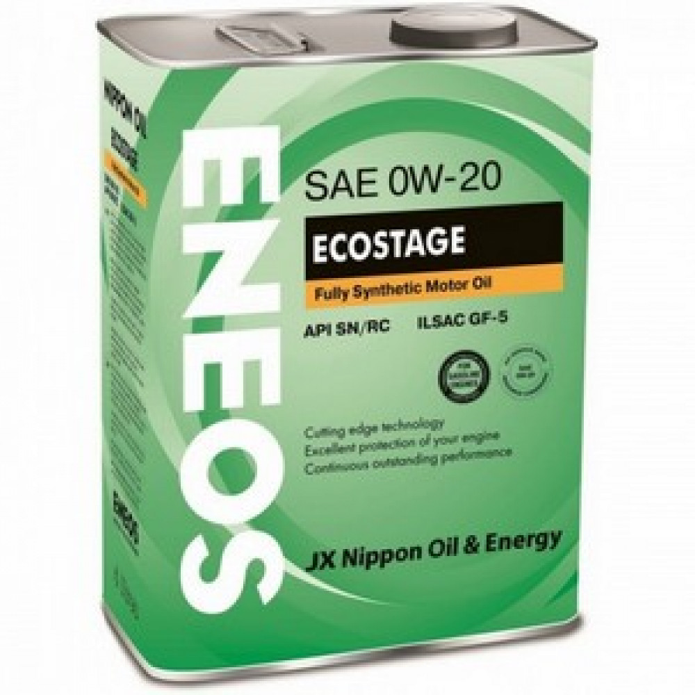 ENEOS 0w20 Ecostage SN, масло мотор  син  4л