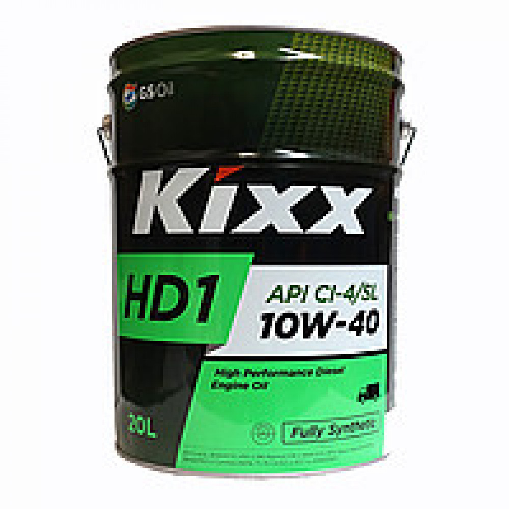 KIXX  HD1 10w40  (CL-4/SL) масло мотор  синт ,20л/ 1  Корея